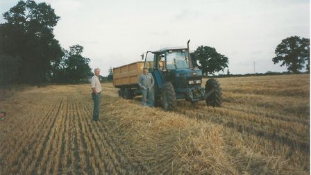 Farm manager Peter Youngs, left, with Ron Backhouse back in 1994 Picture: BROXTEAD ESTATE