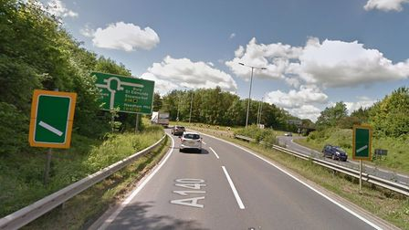 A cyclist and Honda Civic were involved in a collision on the Beacon Hill roundabout of the A140 thi
