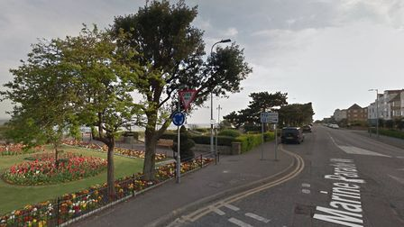 The man was found with a stab injury in Marine Parade West in Clacton, near the junction with Agate