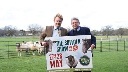 Bruce Kerr, right, the new Suffolk Show director with his deputy James Nunn at the Suffolk Agricultu