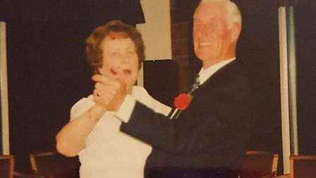 Norman and Lottie Rose share a love of dancing Picture: NORMAN AND LOTTIE ROSE
