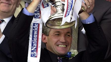 George Burley's Ipswich won promotion at Wembley, 20 years ago this week. Picture: ARCHANT
