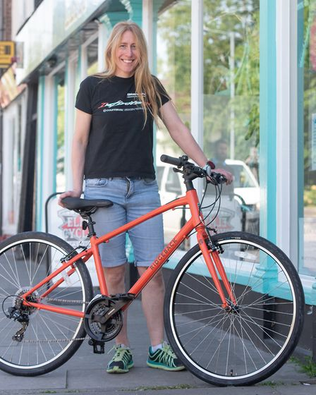 Bike fitter at Elmy Cycles, Jo Newstead, one of a team selling and fixing bikes at the store. Pictur