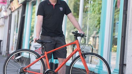 Steve Grimwood, owner of Elmy Cycles, who now hopes that people will continue to cycle after the cor