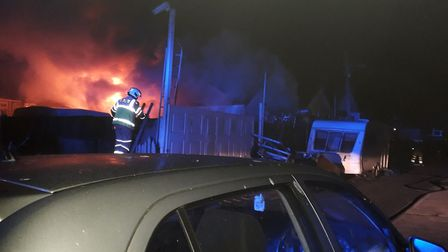 Firefighters were unable to enter the property in Jaywick as it was so badly damaged. Picture: MARTI