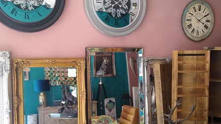 A selection of beautiful clocks, mirrors and pieces of furniture Picture: Robert Manning