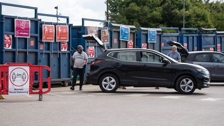 Reopening recycling centres like that at Foxhall has been successful. Picture: SARAH LUCY BROWN