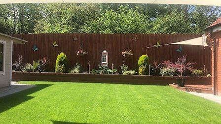 Steve Leale took this picture of his garden basking in the sunshine Picture: STEVE LEALE