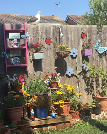 Hannah Earrey, from Ipswich, has brought her garden to life in the past few months Picture: HANNAH E