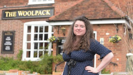 The Woolpack has started a take-away delivery service for it's customers. Landlady of The Woolpack,
