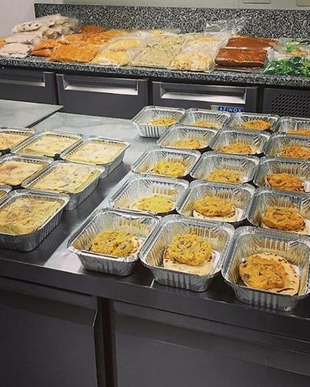 An assortment of ready meals being prepped for collection Picture: The Bildeston Crown