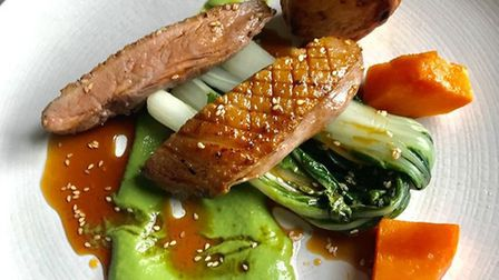 The duck main course from Fox and Goose Picture: Fox and Goose