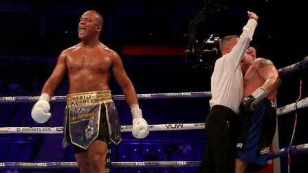 Suffolk heavyweight Fabio Wardley is 8-0 with 7 straight stoppages Picture: PA SPORT