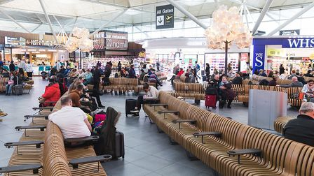 A busy Stansted Airport during the period before the devastating coronavirus lockdown Picture: STA