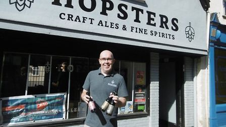 Ed Barnes outside of Hopsters back in 2019 Picture: David Vincent