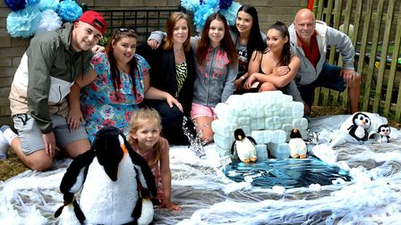The Shanks family created their penguin pool on Nowton Road Picture: ANDY ABBOTT