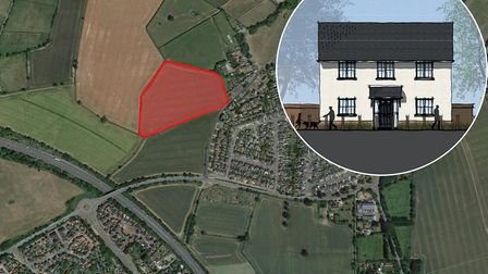 Designs of 85 homes to be built in Stowupland have been revealed. Picture: Google Maps/Pegasus Desig