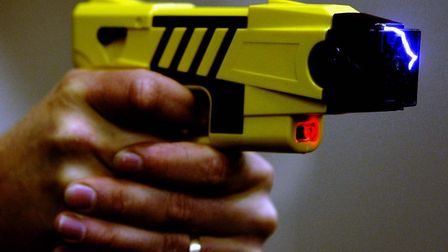 A taser was drawn on the man at the scene of the arrest in Grove Park, Bury St Edmunds, on Thursday