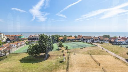 The property has its own tennis courts. Picture: Peter Lambert/Niche