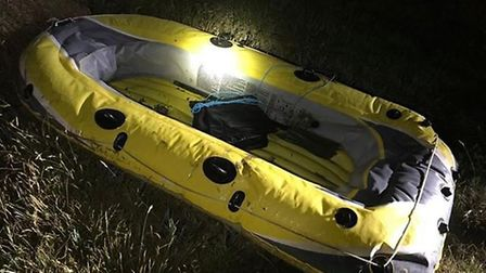 The two were travelling along the river in a dinghy Picture: FELIXSTOWE COASTGUARD RESCUE TEAM