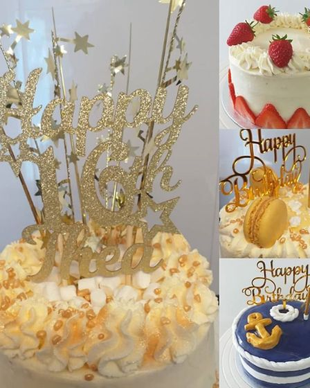 Some of the mini celebration cakes created by Peanut Parties Picture: PEANUT PARTIES