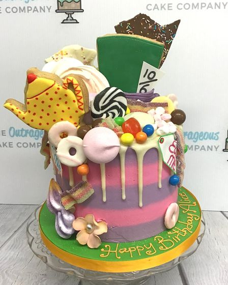The Mad Hatter's Tea Party is the theme for one of the new party cakes from The Outrageous Cake Comp