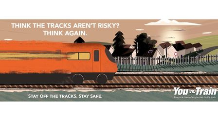 Network Rail is warning children of the dangers on the tracks. Picture: NETWORK RAIL