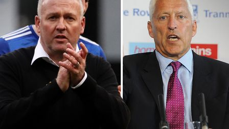 Tranmere chairman Mark Palios (right) has proposed a way of finishing the League One season which wo