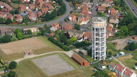Will Colson said he discovered concrete chunks from Trimley Water Tower fall into his garden Picture