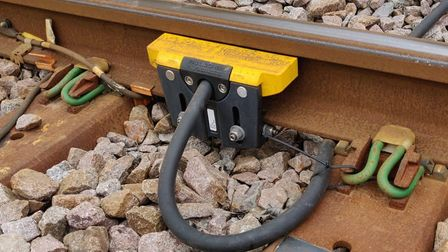 One of Network Rail's new axle counters. Picture: NETWORK RAIL