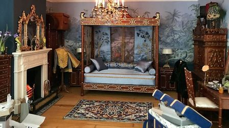 A dolls house bedroom designed and restored by Emma Picture: Emma Waddell