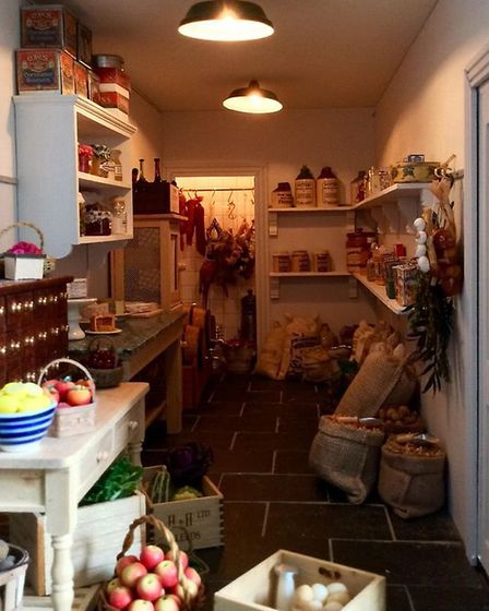 A tiny kitchen, complete with fittings, shelves and food Picture: Emma Waddell