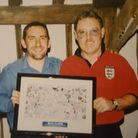Karl Fuller, pictured with Kevin Beattie Photo: CONTRIBUTED