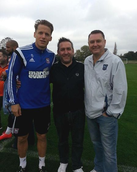 Christophe Berra with Karl Fuller and Kevin Painter
