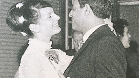 Dr Mirza and his wife Estelle when they got engaged in 1970 Picture: SUPPLIED BY FAMILY