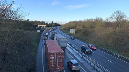 A Suffolk motorist was recorded speeding at 140mph on the A14 Picture: SARAH LUCY BROWN
