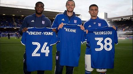 Keane ultimately signed for the Blues on August 20 and was presented to the crowd before the game wi