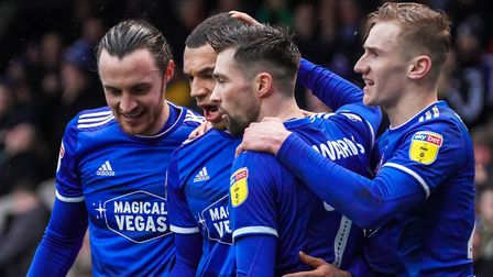 Keane, left, had a hand in three of Town's four goals against Burton in February. Picture: STEVE WAL