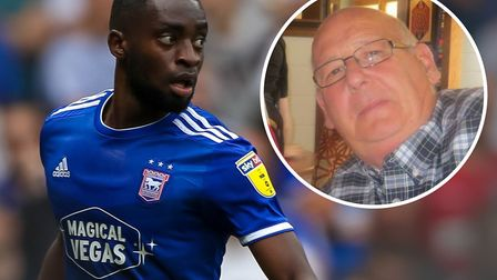 Ipswich Town star Kane Vincent-Young has been calling season ticket holder John Hassey, inset, every