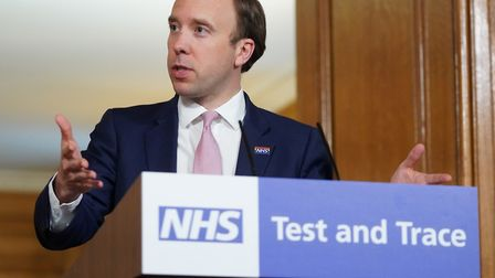 Health secretary Matt Hancock said millions of pounds had been given to Suffolk to help beat the vir
