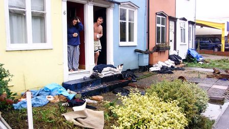 Residents in north Essex were left to clear the debris from their gardens after floods in October 20