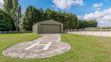 Keebles has its own helipad and aircraft hangar Picture: STRUTT & PARKER