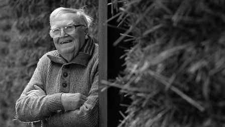 Long-standing NFU member Peter West, aged 90, pictured on the family farm at Brome in October 2019,