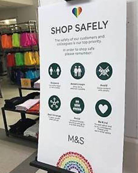 Signage for Marks & Spencer's clothing stories as they reopen Picture: M&S
