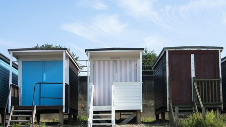 Beach huts in Frinton, Essex, have been affected by human fouling during lockdown due to closed publ