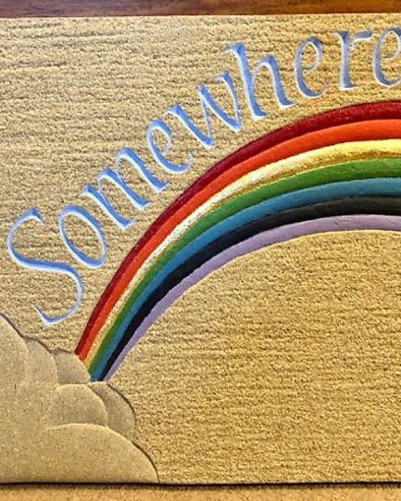 Rainbow by Maya Martin Picture: LETTERING ARTS TRUST