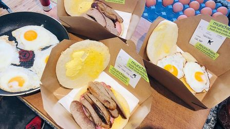 Delicious breakfast baps to take away from Aldeburgh Munchies Picture: ALDEBURGH MUNCHIES