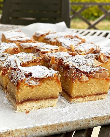 Bakewell tart - just one of the goodies in the afternoon teas delivered by Nourish Cafe in Newbourne