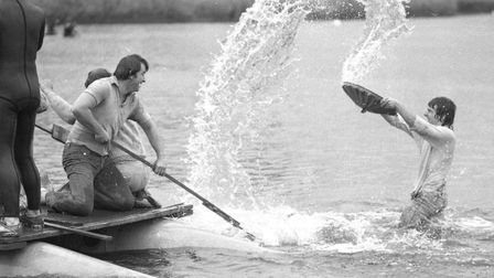 Thorpeness Raft Race in 1977 Picture: ARCHANT