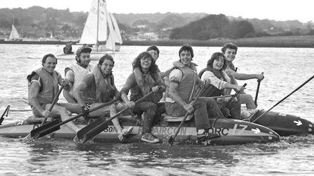 Raft Race from Woodbridge to Felixstowe September 1981 Picture: ARCHANT